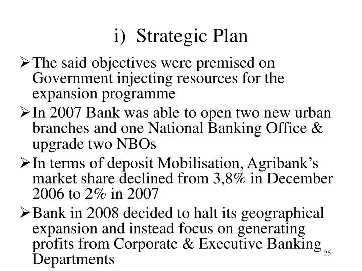 i)  Strategic Plan