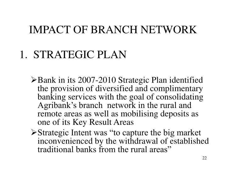 IMPACT OF BRANCH NETWORK