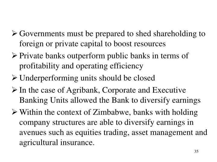 Governments must be prepared to shed shareholding to foreign or private capital to boost resources