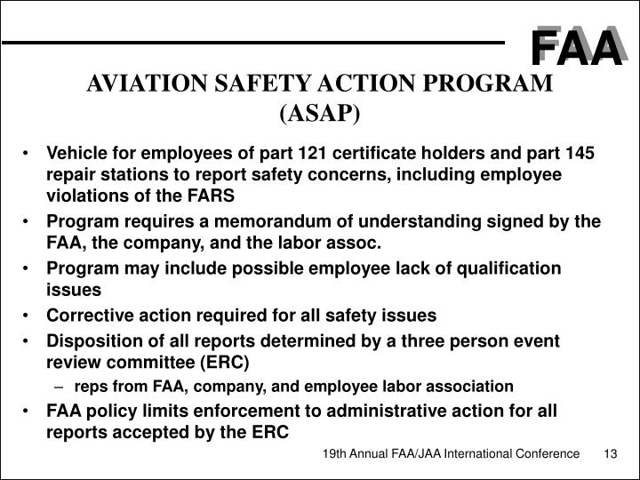 AVIATION SAFETY ACTION PROGRAM