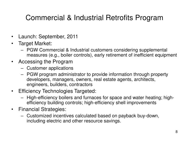 Commercial & Industrial Retrofits Program