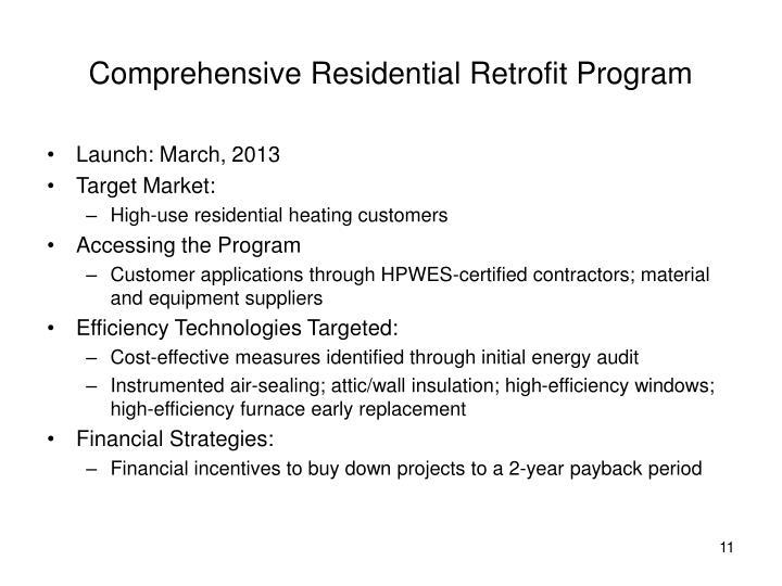 Comprehensive Residential Retrofit Program