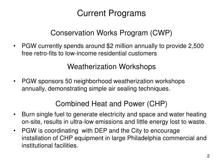 Current programs conservation works program cwp