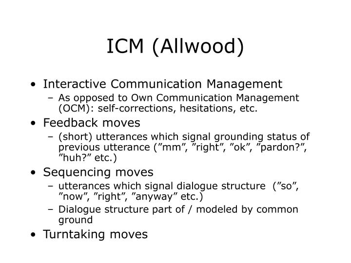 Icm allwood