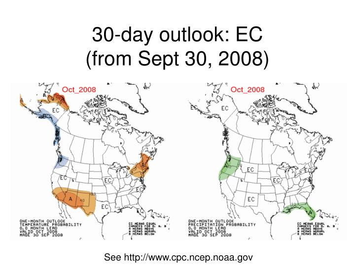 30-day outlook: EC