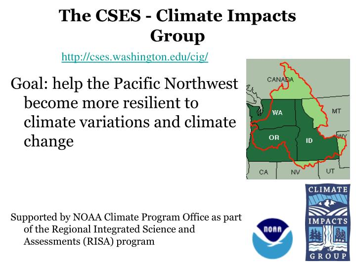The cses climate impacts group