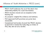 alliance of youth ministries v peco cont