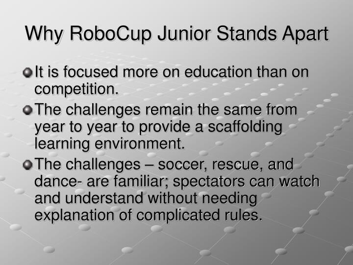Why RoboCup Junior Stands Apart