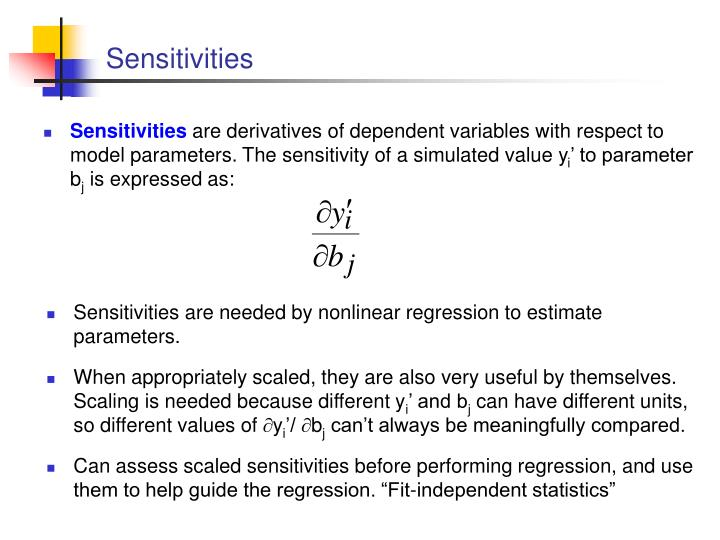 Sensitivities