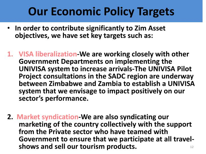Our Economic Policy Targets