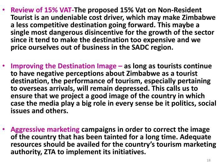 Review of 15% VAT-