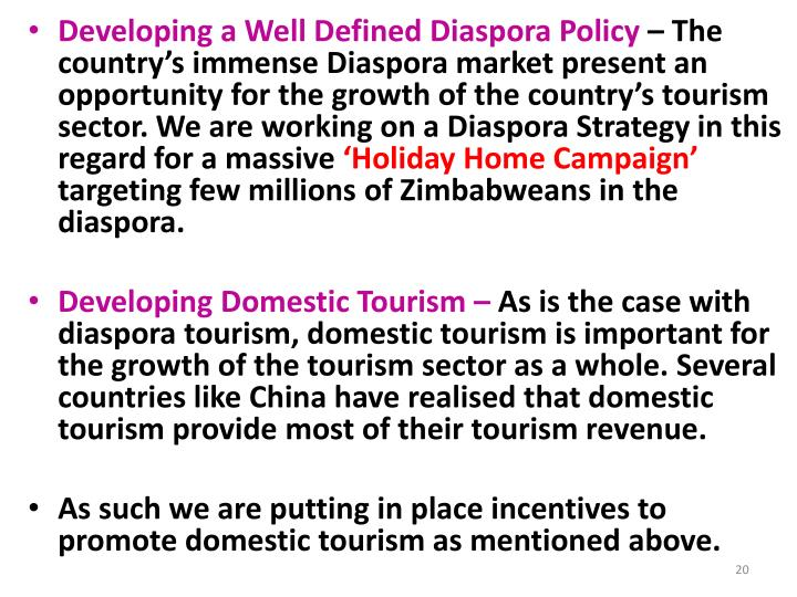 Developing a Well Defined Diaspora Policy