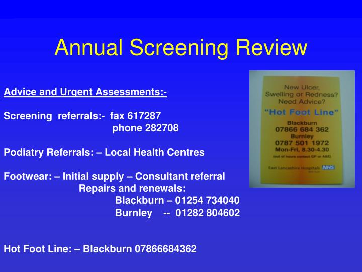 Annual Screening Review