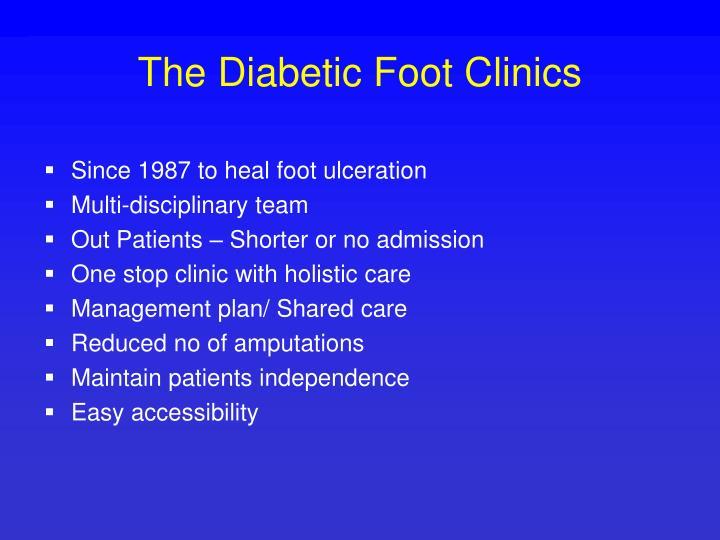 The Diabetic Foot Clinics