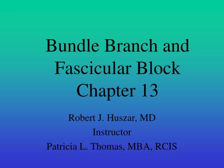 bundle branch and fascicular block chapter 13 n.