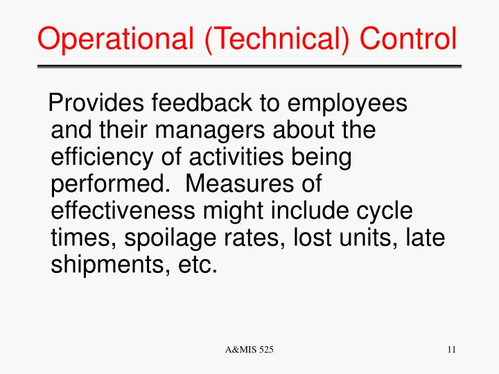 Operational (Technical) Control