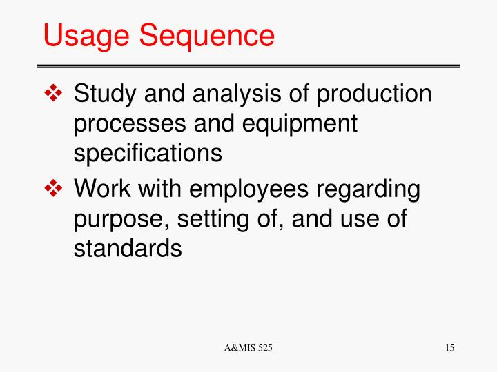 Usage Sequence