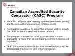 canadian accredited security contractor casc program