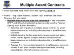 multiple award contracts