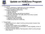 update on hubzone program cont d