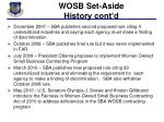 wosb set aside history cont d