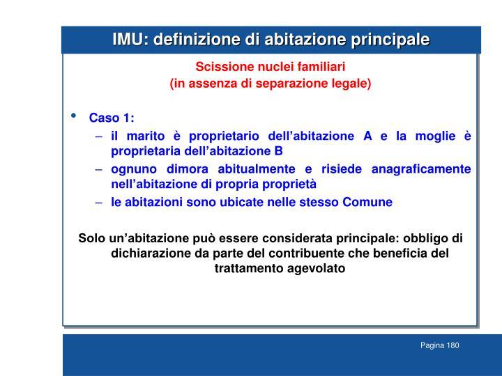 IMU: definizione di abitazione principale