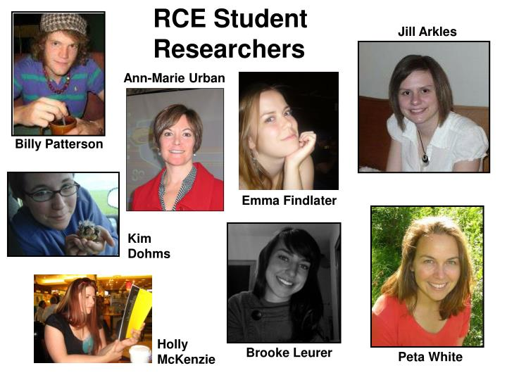 RCE Student Researchers