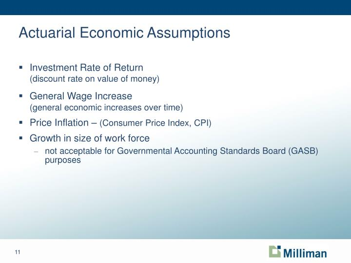 Actuarial Economic Assumptions
