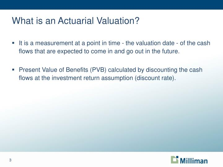 What is an actuarial valuation