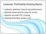 customer profitability ranking report