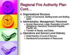 regional fire authority plan cont