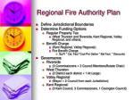 regional fire authority plan