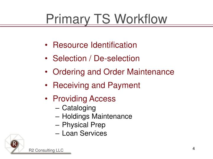 Primary TS Workflow
