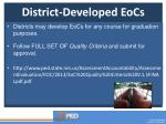district developed eocs