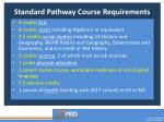 standard pathway course requirements