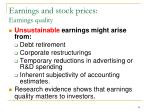 earnings and stock prices earnings quality1