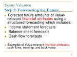 equity valuation step 2 forecasting the future