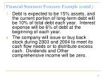 financial statement forecasts example contd1