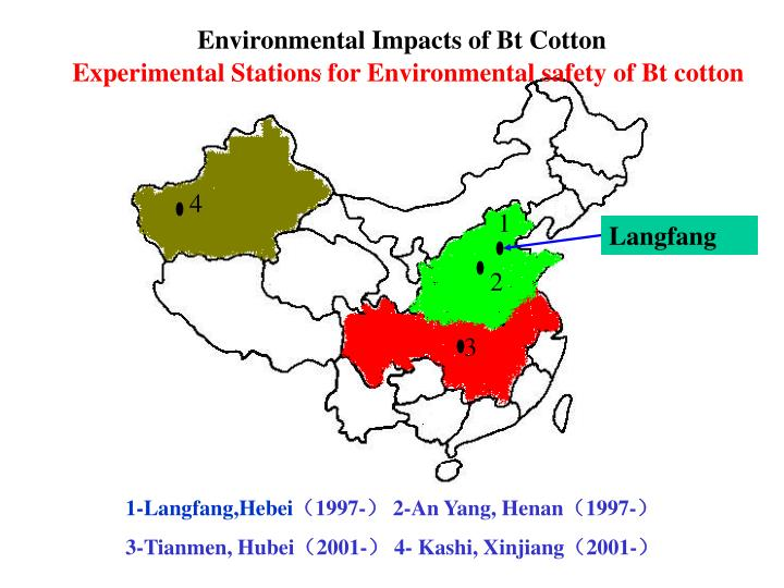 Environmental Impacts of Bt Cotton