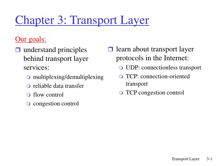 chapter 3 transport layer n.