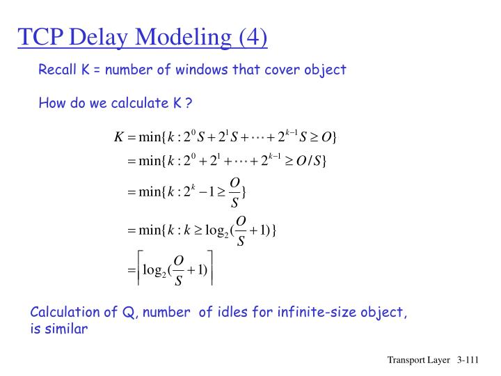 TCP Delay Modeling (4)