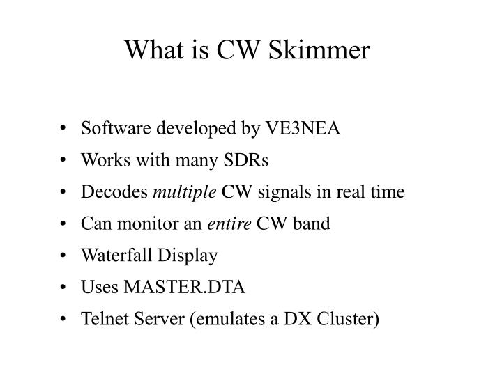 What is CW Skimmer