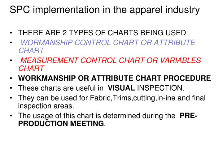 SPC implementation in the apparel industry