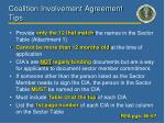 coalition involvement agreement tips