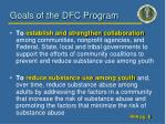goals of the dfc program