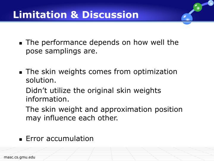 Limitation & Discussion