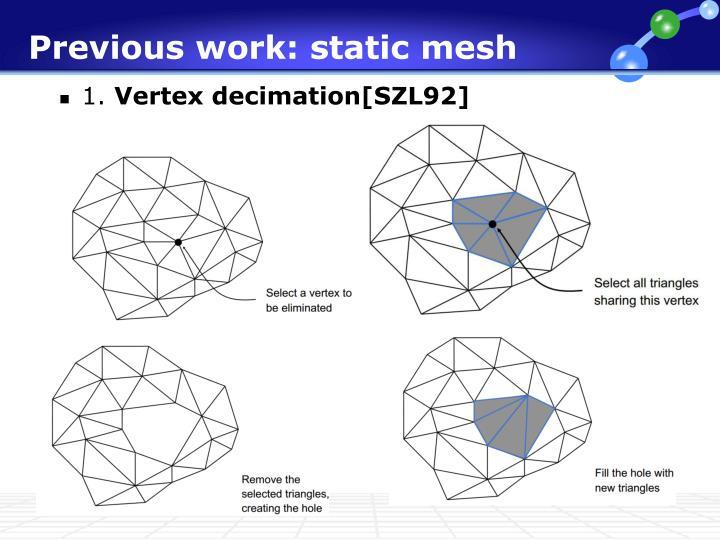 Previous work: static mesh