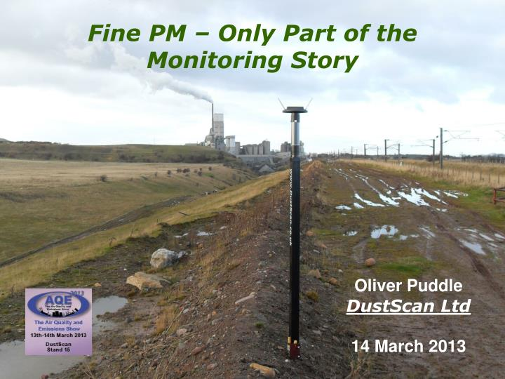 Fine pm only part of the monitoring story