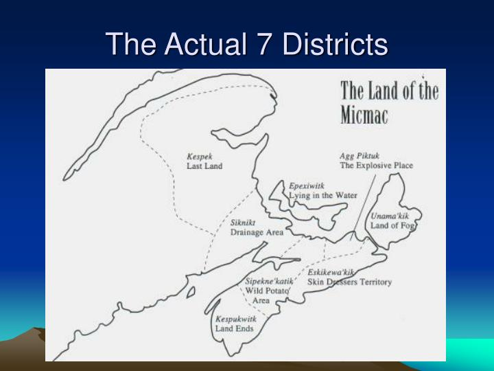 The Actual 7 Districts