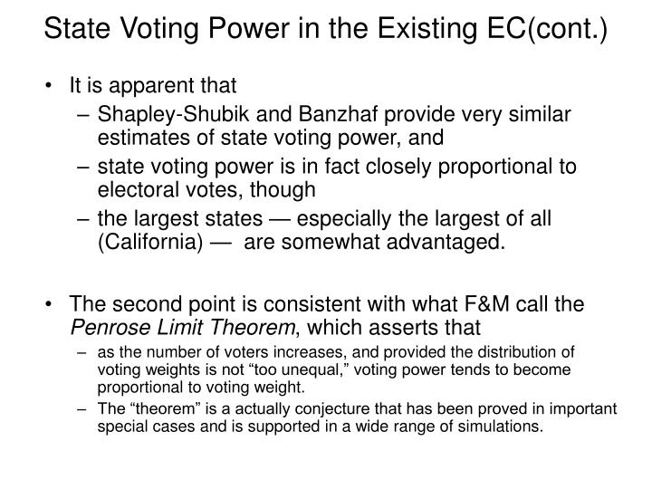State Voting Power in the Existing EC(cont.)